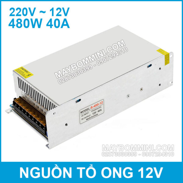 Nguon To Ong 12V 40A 480W