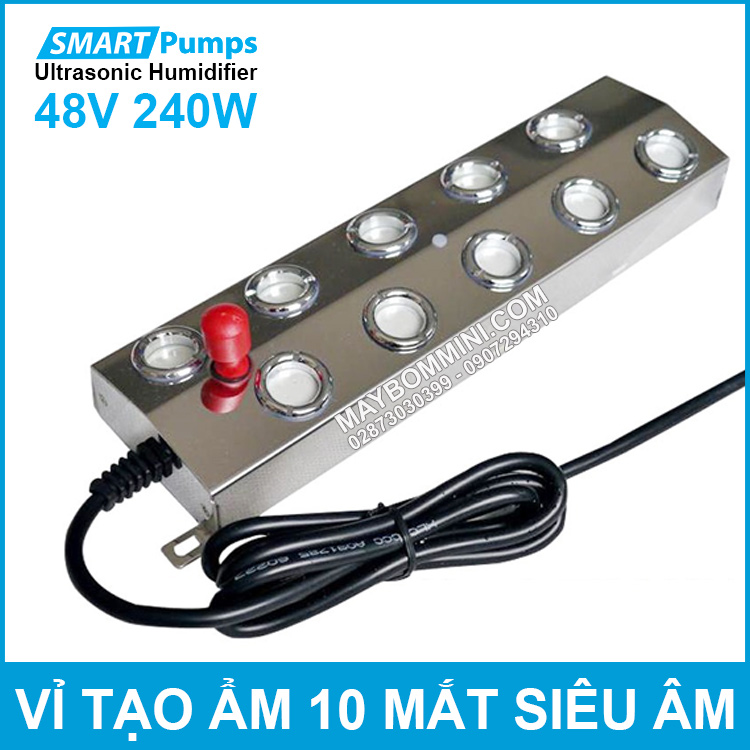 Vi Tao Am 10 Mat Bang Song Sieu Am Num Do 48V 240W Smartpumps Humidifier Ultrasonic Industrial