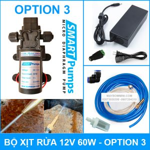 Bo Xit Rua Xe Ap Luc Mini 12V 60W Option 3