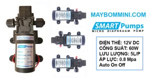 May Bom Mini Ap Luc 60W 12V Smartpumps