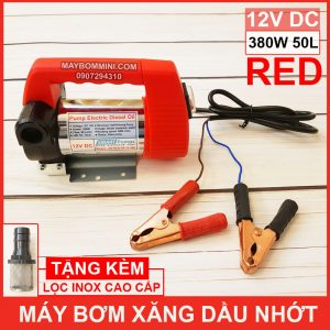 May Bom Xang Dau Nhot 12V 380W 50L Red