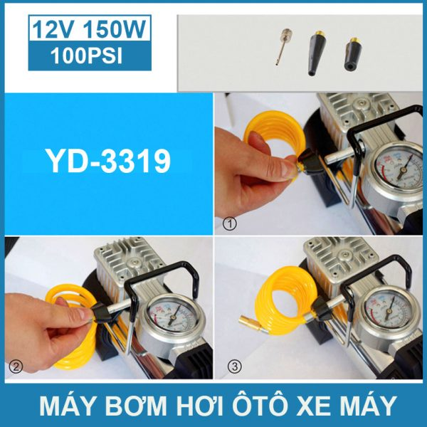 Su Dung May Bom Hoi Mini 12v Gia Re