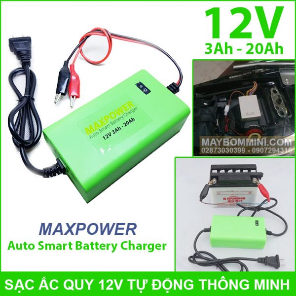 Sac Ac Quy Tu Dong Thong Minh 12v Gia Re Chat Luong