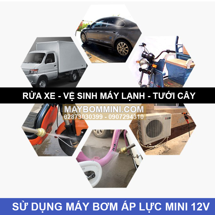 Su Dung May Bom Ap Luc Mini 12v Maxpumps