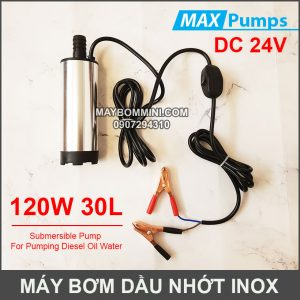 May Bom Dau Nhot 24V 30L DO Inox